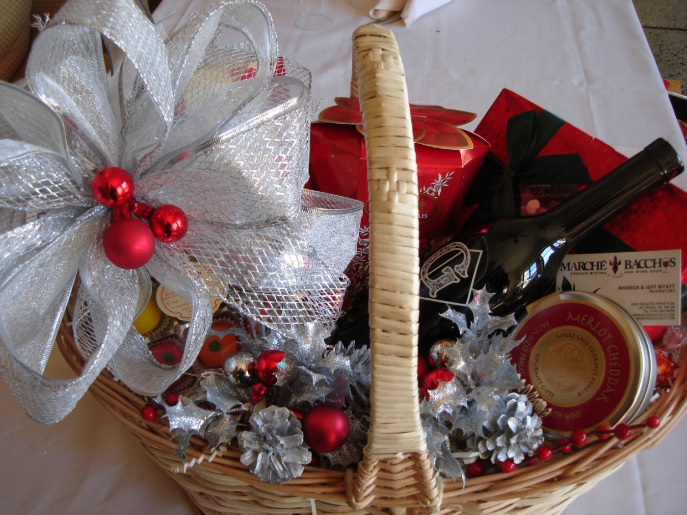 Wine Gift Baskets At Marche Bacchus